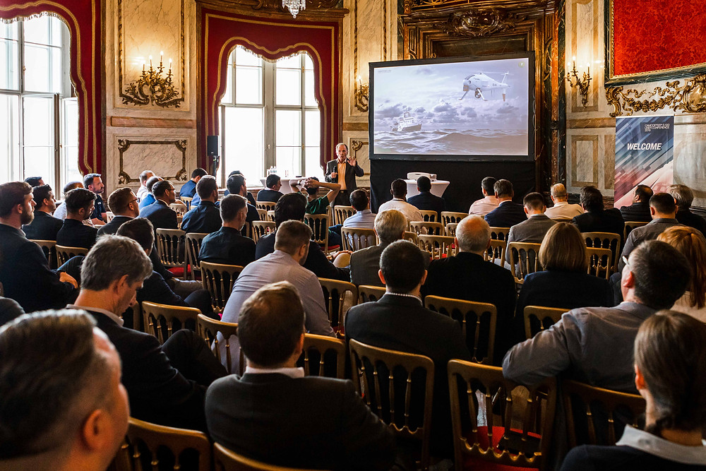 Schiebel CTO Chris Day presenting at the User Conference 2019 photo credit: Schiebel