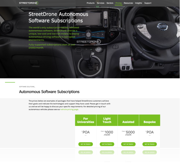StreetDrone unlocks autonomous vehicles with ground-breaking subscription service