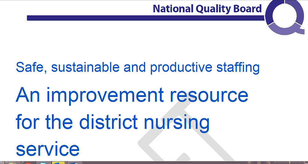 On Wednesday 15th March 2017, NHSI published the improvement resource for the district nursing service, alongside the evidence review.