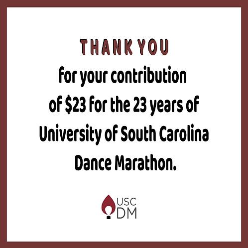 $23 for 23 Years of Dance Marathon