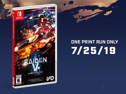 Raiden V: Director's Cut blazing its way on to Nintendo Switch™ July 25th