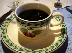 eine heiße Tasse Kaffee