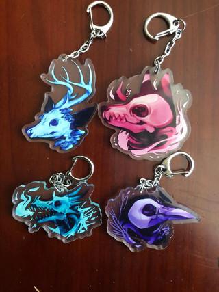 Animal head charms