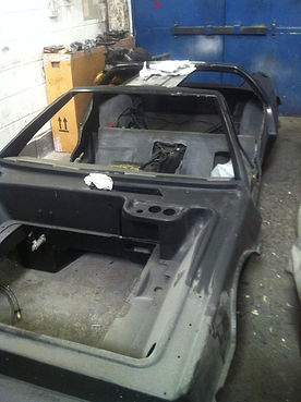 Delorean Right Hand Drive body tub modifications