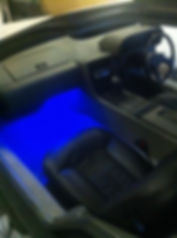 Dash lighting on one of our Right Hand Drive Deloreans. PJ Grady Europe