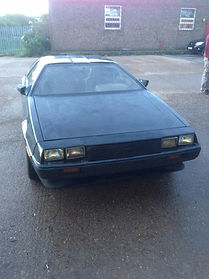 Our Current RHD Delorean previously painted Black