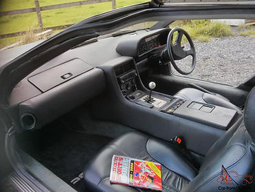 Fully Finished Interior of a Right Hand Drive Delorean.