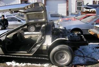 Delorean Car Under Construction, with Darren Lampert