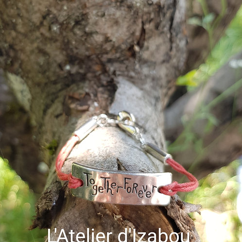 "Bracelet Message ""Together Forever"""