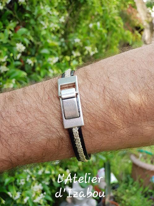 Bracelet homme cuir grande taille