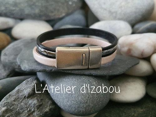 Bracelet noir et blanc disco !
