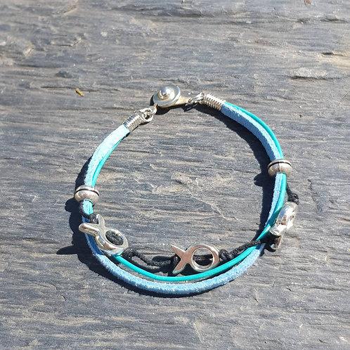 Bracelet poissons bleu