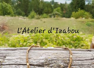 Sur fond de Lac de Serre Ponçon, quand l'inspiration vient pour la création d'un collier...