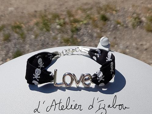 Bracelet Love et liberty têtes de mort