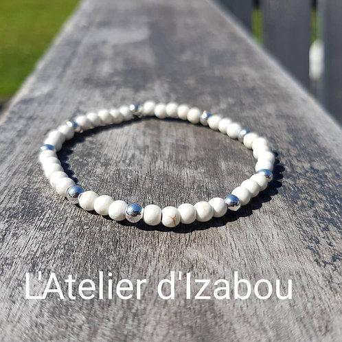 Bracelet perles blanc