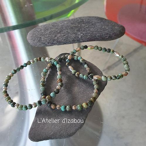 Trio de bracelets perles