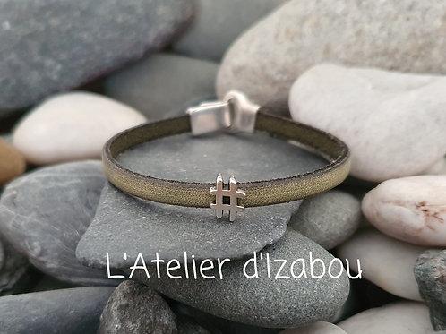 Bracelet hashtag !