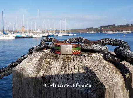 Quand il fait beau en Bretagne, mon bracelet Fête des mères en profite !