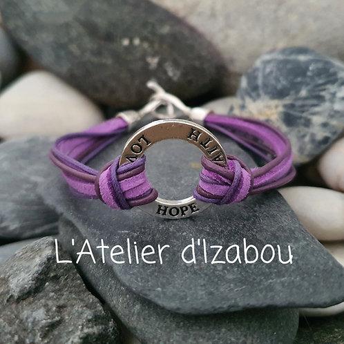 Bracelet message amour, espoir et foi