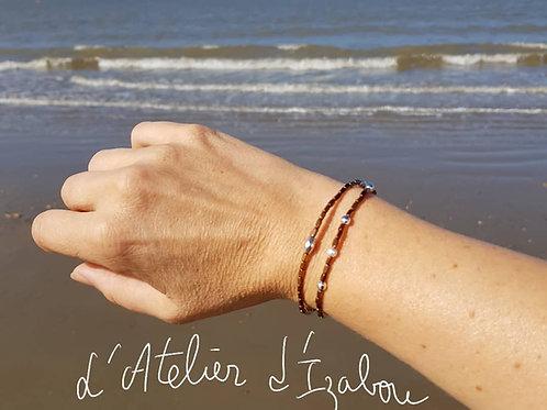Bracelets fin en perles à porter Solo ou Duo