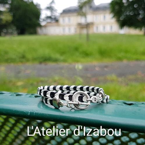 Bracelet noir et blanc !