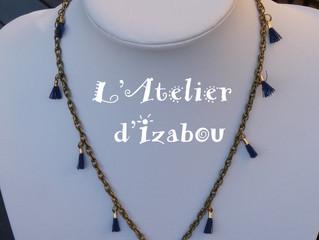"""Ca y'est la dernière création de la """"Collection bleu marine"""" est en ligne."""