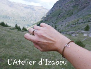 Le massif des Écrins, les vacances et une parure bague-bracelet...