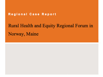 At last! Report released about a rural health forum we helped to host in May