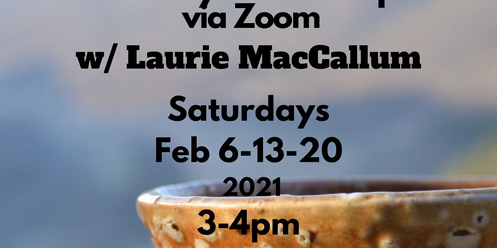 Intro to hand building ~ Pottery Workshop via Zoom w. Laurie MacCallum