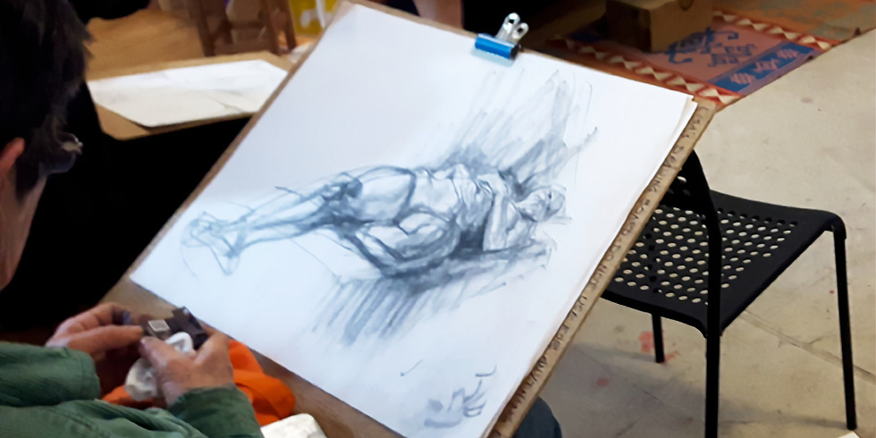 Life Drawing Practice with a model