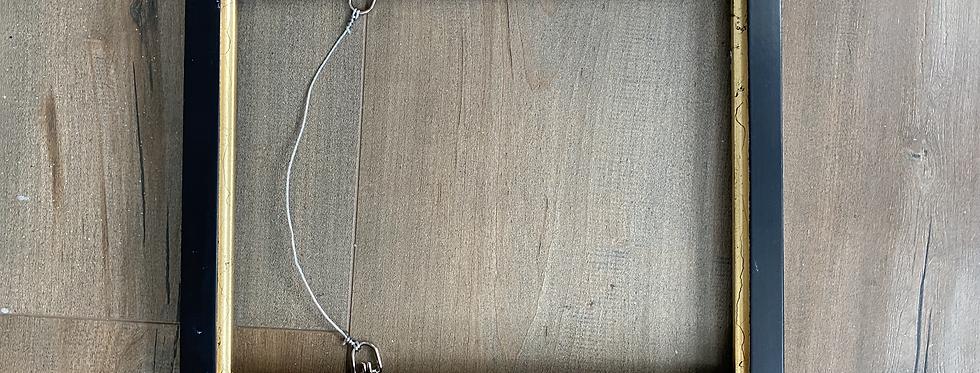 8x10 Black with Gold Color Metal Leaf Liner