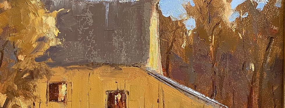 Yellow Barn in Fall