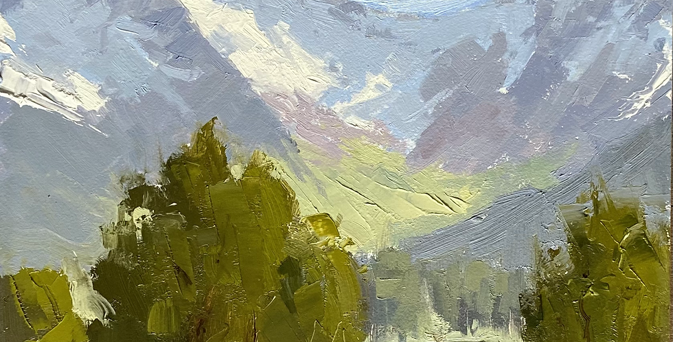Mountains and Trees in Spring