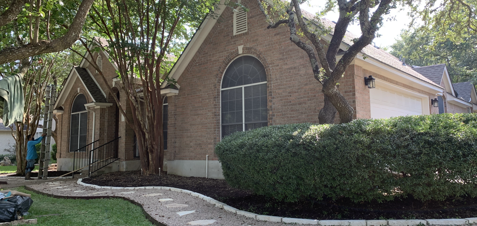Xeriscaped & Clean Up