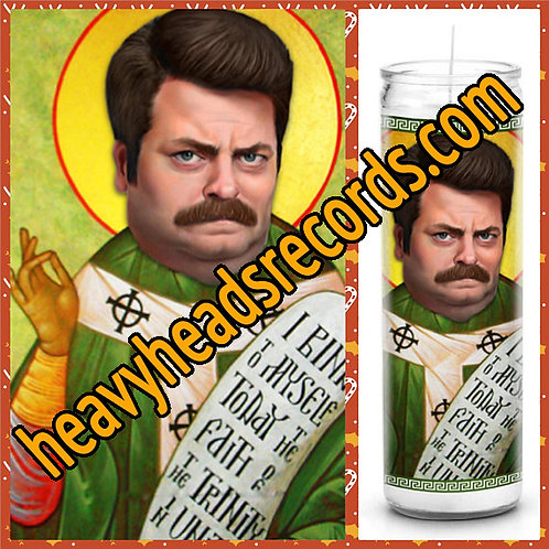 Ron Swanson Celebrity Prayer Candle