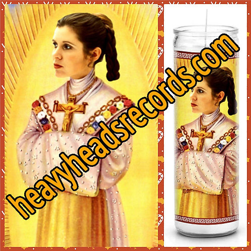 Carrie Fisher Celebrity Prayer Candle