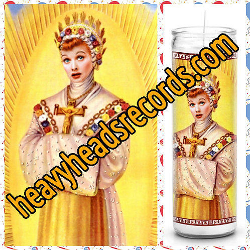Lucille Ball I Love Lucy Celebrity Prayer Candle