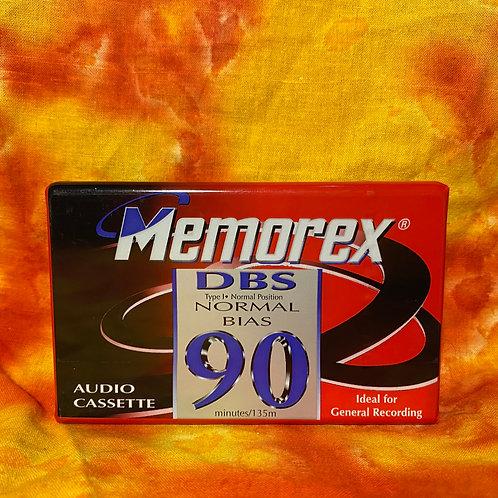 Memorex DBS90 - 90 Minute Blank Cassette Tape