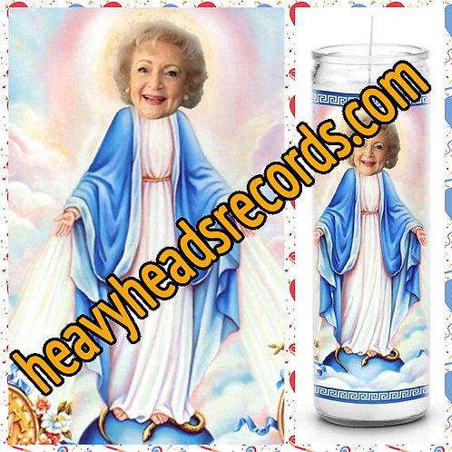 Betty White Celebrity Prayer Candle