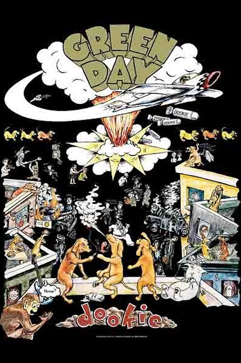 Green Day - Dookie - Fabric Poster Flag