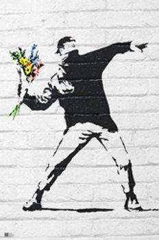 Banksy Flower [Poster]