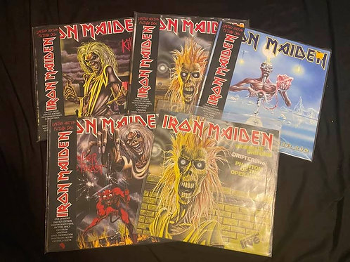 Iron Maiden 5 Record Lot