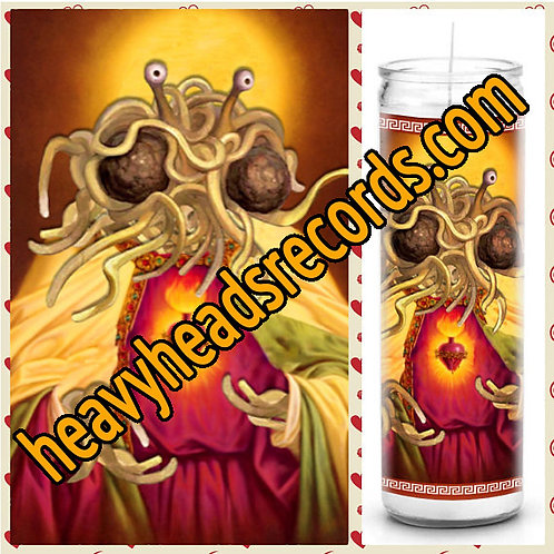 Spaghetti Monster Celebrity Prayer Candle