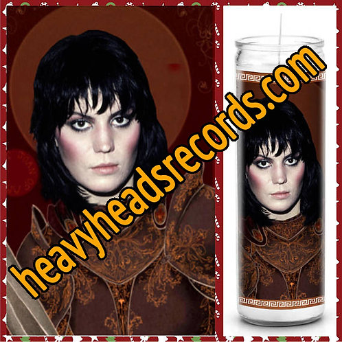 Joan Jett Celebrity Prayer Candle