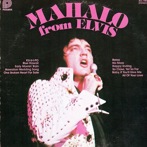 Elvis Presley - Mahalo from Elvis [LP]