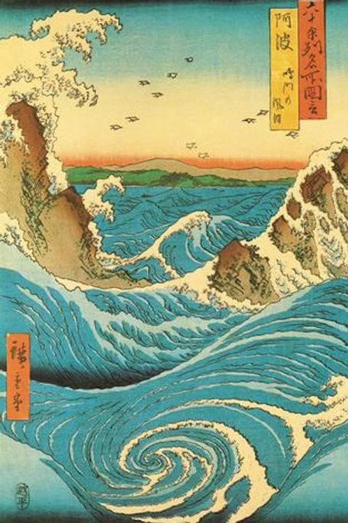 Hiroshige Navaro Rapids [Poster]