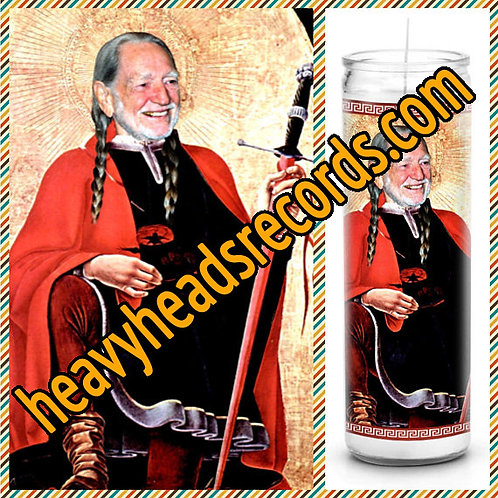 Willie Nelson Celebrity Prayer Candle