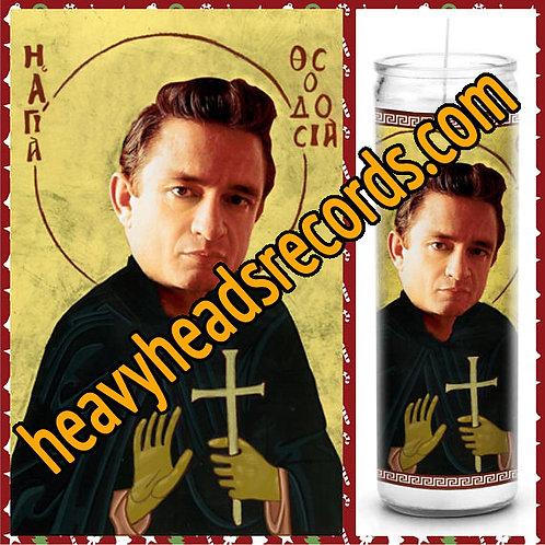 Johnny Cash Celebrity Prayer Candle