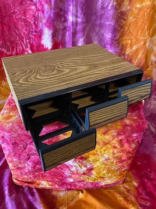 Vintage Cassette Tape Drawer Storage Bins 14 spaces per drawer 42 per unit