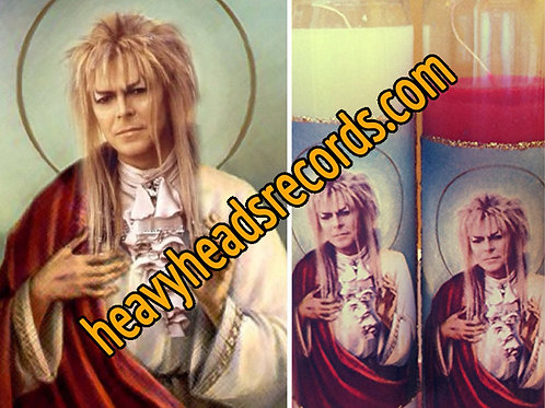Goblin King David Bowie Celebrity Prayer Candle